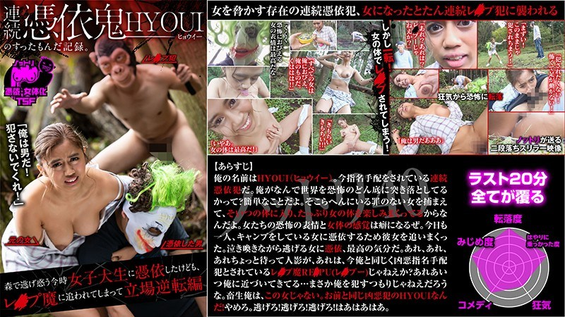 NTTR-040 Hyoui Is Possessed By A Horny Devil – A College Girl Runs Away Into The Woods, But When She Gets Possessed, She Turns The Tables On Her Pursuers – Aisha Yuzuki